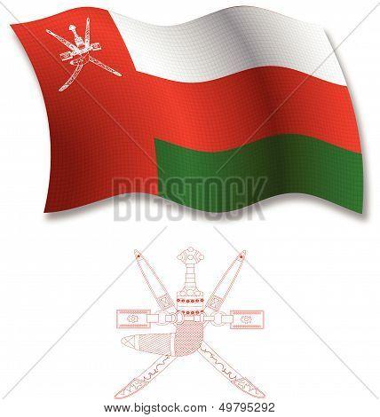 Oman Textured Wavy Flag Vector