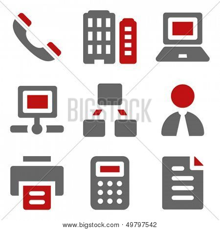 Office web icons, dark red and grey