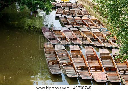 Punts. Oxford, Uk