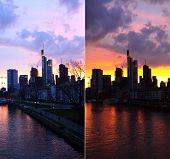 stock photo of frankfurt am main  - Two colours of Frankfurt am Main - JPG