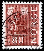 Norwegian Post Stamp