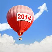 Hot Air Balloon With 2014 Text Billboard