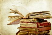 stock photo of piles  - Old books - JPG