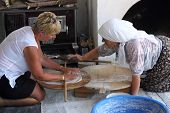 Making traditional turkish bread