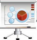 pic of stagnation  - Business  graph board  - JPG