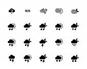 pic of sandstorms  - Weather icons on white background - JPG