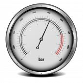 stock photo of manometer  - illustration of a pressure meter gauge - JPG