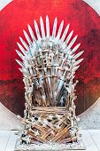 pic of throne  - The throne of a warlord king in fantasy style  - JPG