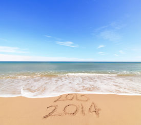 picture of happy new year 2013  - New Year 2014 is coming concept  - JPG