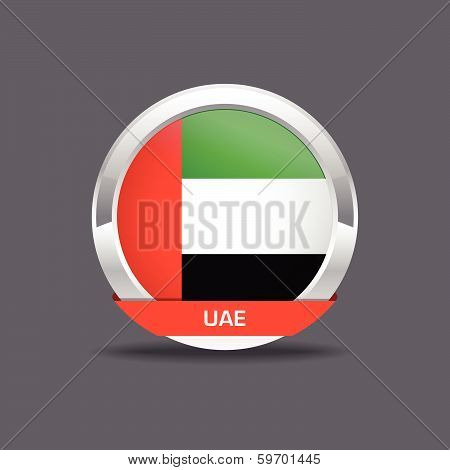 UAE Flag Vector Icon