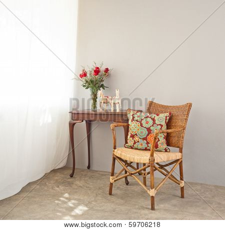 Beige Bast Chair