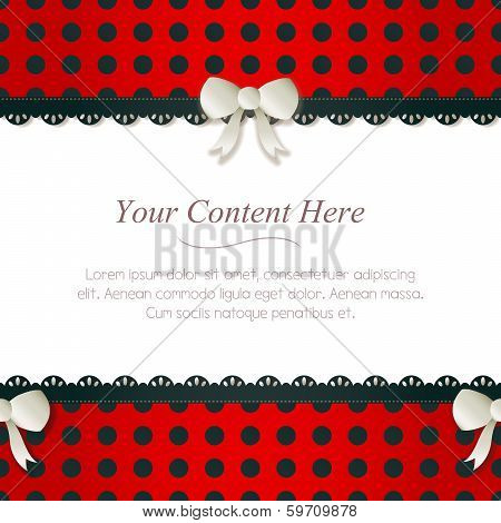 Seamless Red Polka Dot Border