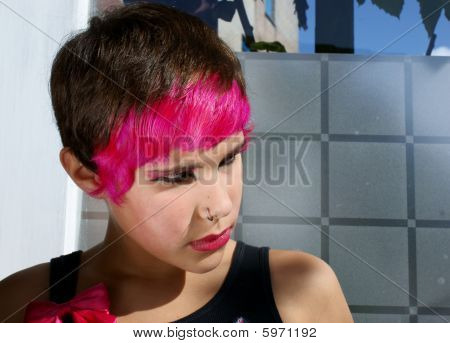 Pink Girl Trendy Teenager