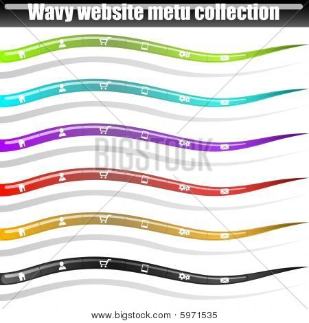 Web site wavy menu bars