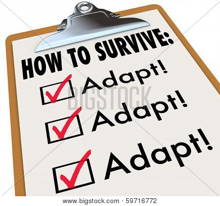 How to Survive Adapt Clipboard Checklist Advice