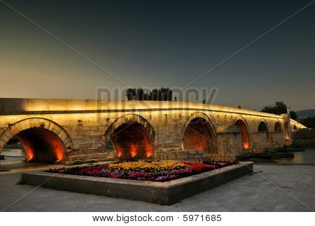 The Stone Bridge In Skopje