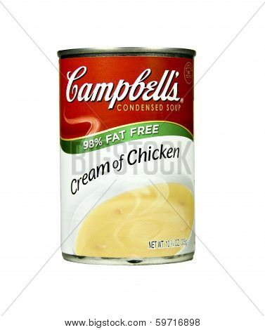 Can Of Campbell's Cream Of Chicken Soup