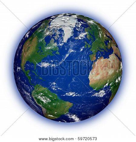 Northern Hemisphere On Planet Earth poster