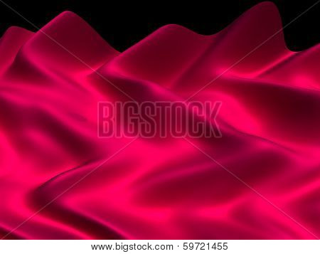 Luxury abstract silk fabric background 3d rendered illustration.