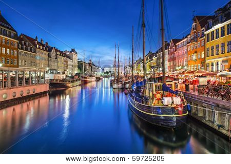 Copenhagen, Denmark on the Nyhavn Canal.