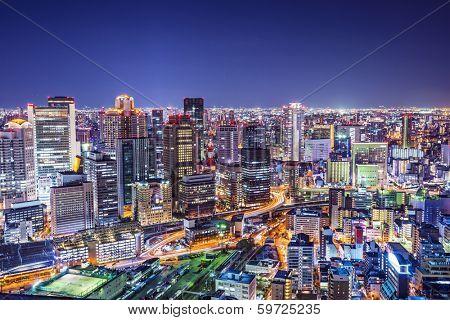 Osaka, Japan at the landmark Umeda District.