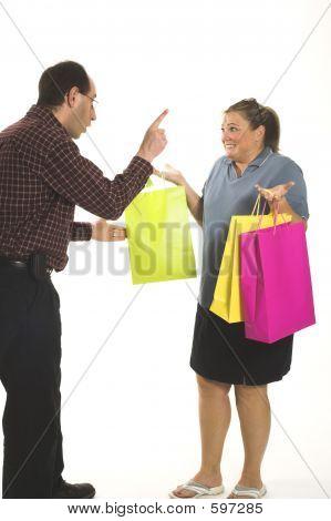 Couple Arguing  About Money
