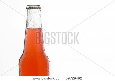 Soda Bottle, Alcoholic Drink With Water Drops