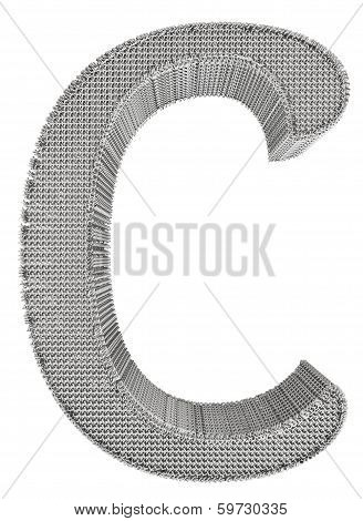 Chain Link Steel Alphabet - C