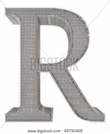 Chain Link Steel Alphabet - R