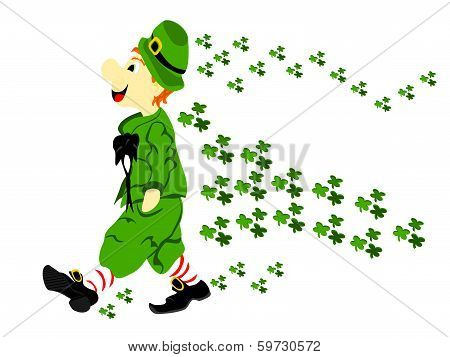 Leprechaun Walk Clover Wave