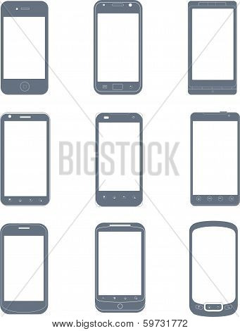 Smartphones icon set