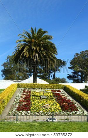 Flower clock at Conservatory of Flowers at the Golden Gate Park in San Francisco