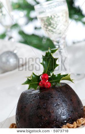 Close Up Christmas Pudding