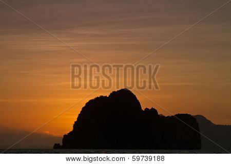 Sunset At The Beach Of The Koh Ngai Island Thailand