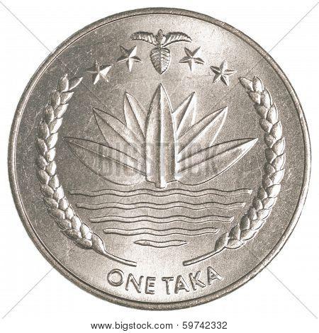 One Bangladeshi Taka Coin