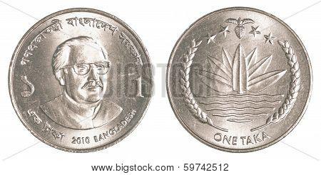 1 Bangladeshi Taka Coin