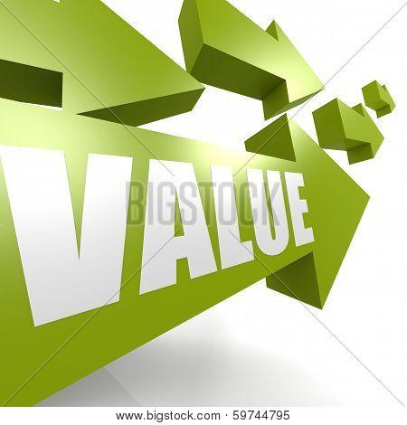 Value Arrow In Green