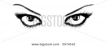 Provoking Eyes Of Attractive Woman