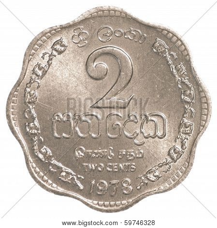 2 Sri Lankan Rupee Cents Coin