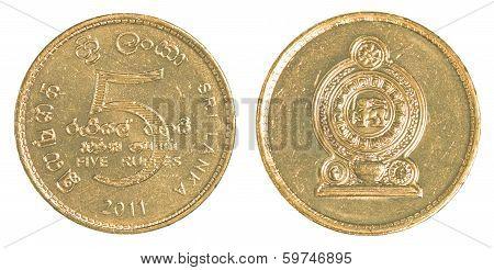 5 Sri Lankan Rupee Coin