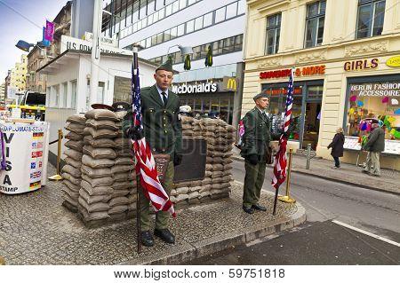 Check Point Charlie, Berlin, Germany.