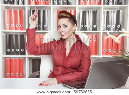 Business Woman Having Idea