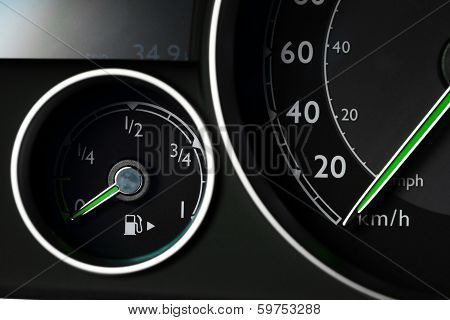 Fuel Gauge And Speedometer