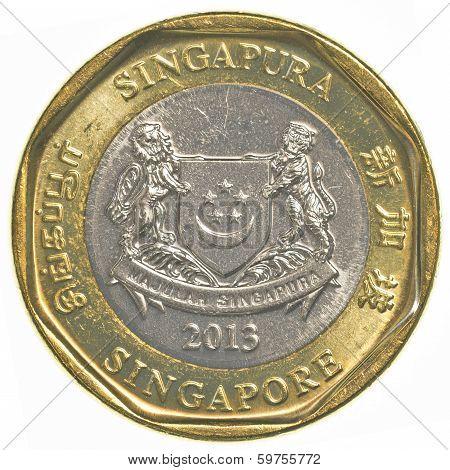 One Singaporean Dollar Coin