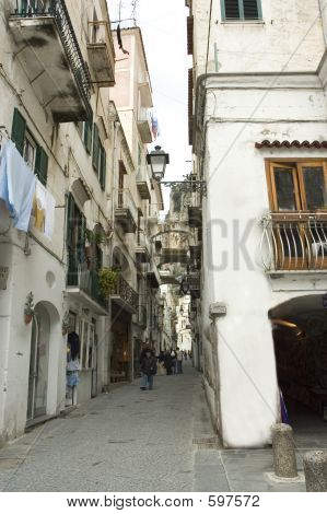 Typical Street In Amalfi, Italy