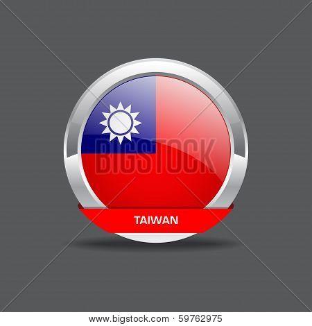 Taiwan Flag Vector Icon