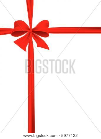 Packaging with a red ribbon with a bow