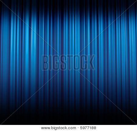 Ice-blue Curtain Shaded