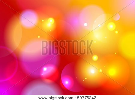 Red summer bokeh background, vector Eps10.