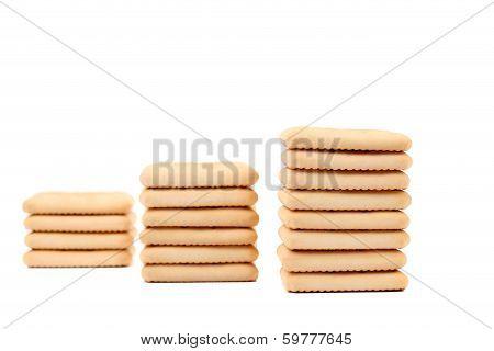 Saltine soda cracker as ladder.